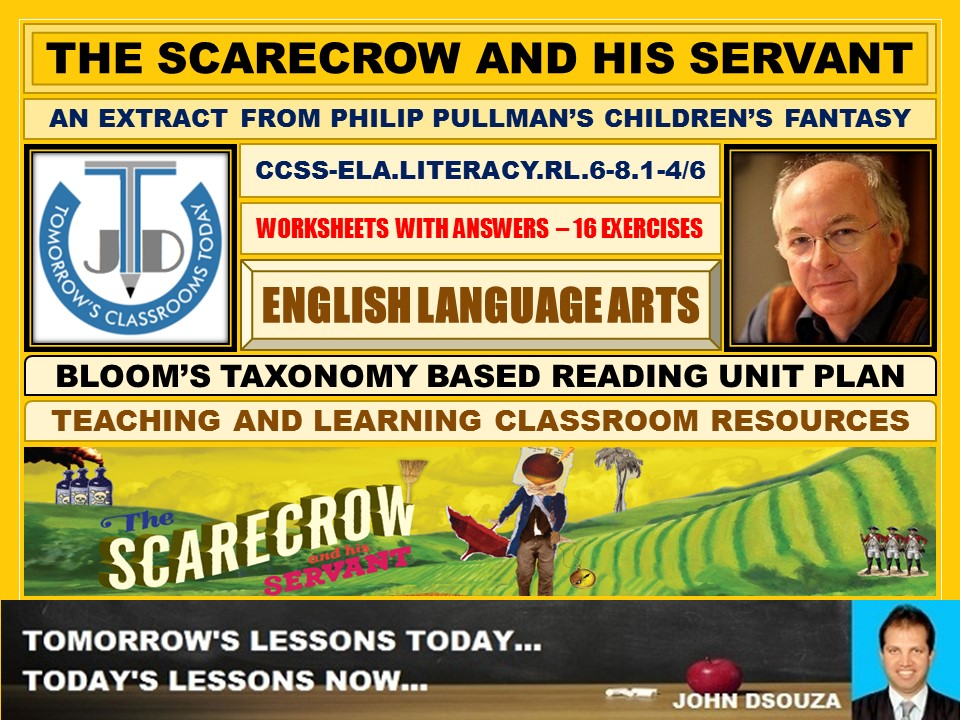 THE SCARECROW AND HIS SERVANT: 16 WORKSHEETS WITH ANSWERS