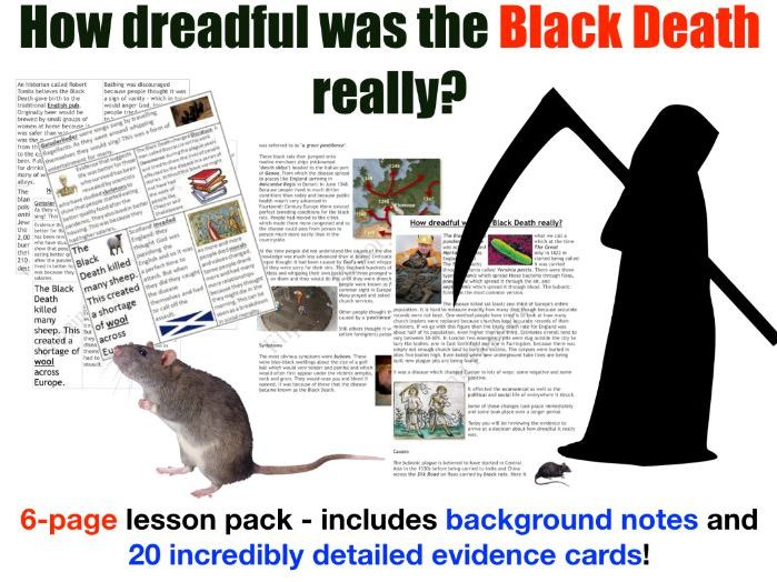 Black Death - 6 page lesson pack
