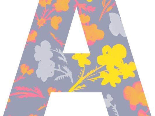 Bulletin Board Letters - Fresh Floral Theme Design - Printable or Digital