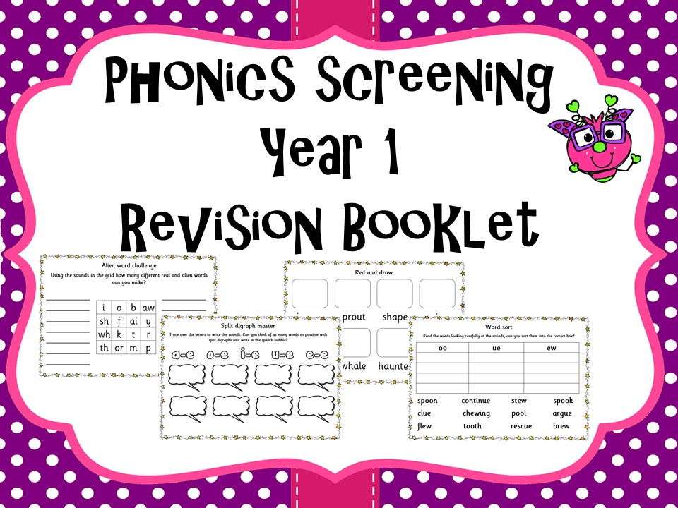 Phonics screening practise revision booklet