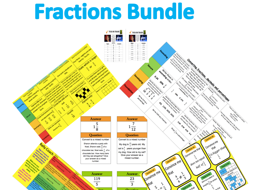 Fractions ( Mix of Fraction work)