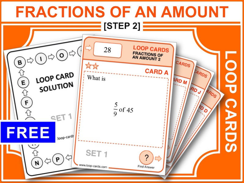 Fractions of an Amount 2 (Loop Cards)