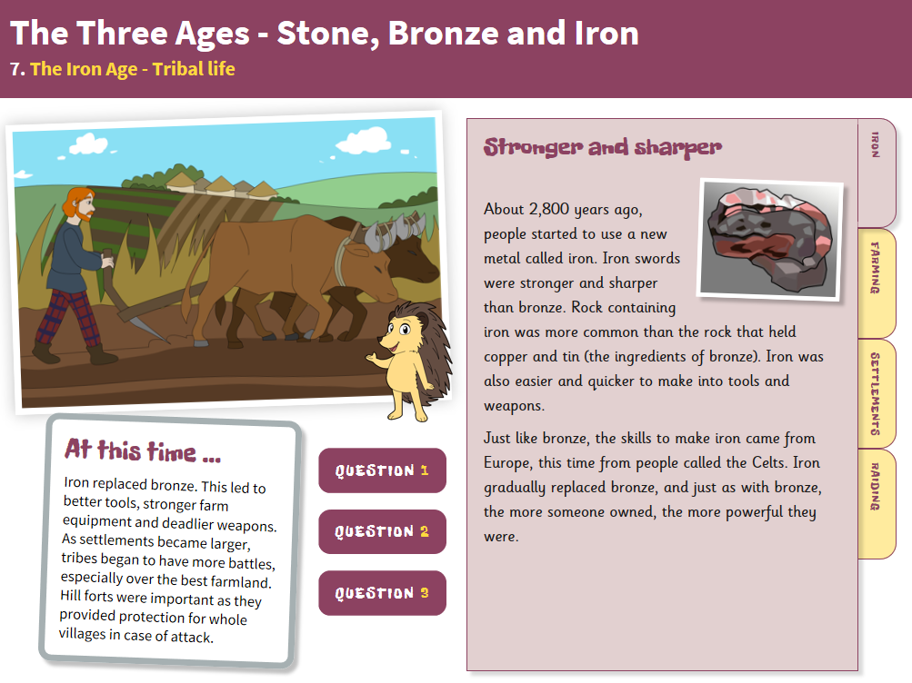 Tribal Life - Interactive Teaching Book - The Iron Age KS2