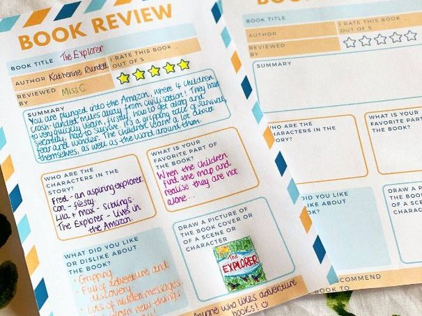 Children's Book Review Template