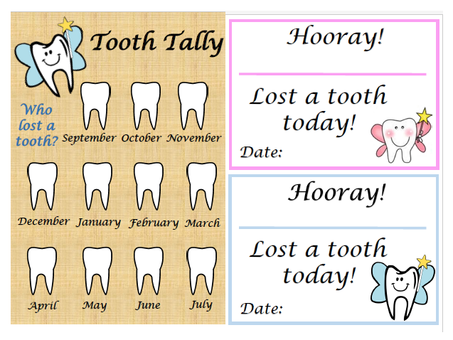 Tooth tally and lost tooth certificates