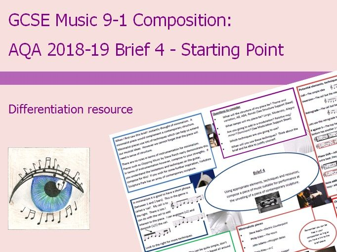Music GCSE 9-1 Composition: 2018-2019 Brief 4 Starting Point