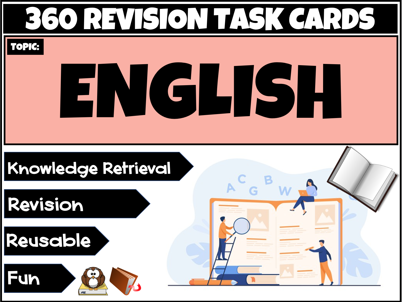 English Writing Task Cards