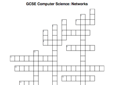 GCSE Computer Science crossword: Networks