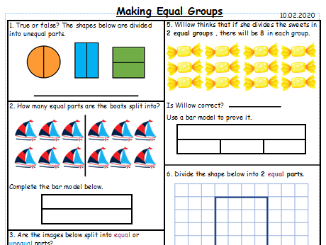 Making Equal Groups