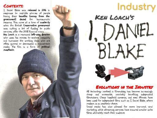 I, Daniel Blake Film CSP - INFOGRAPHIC POSTER and REVISION SHEET - AQA Media Studies