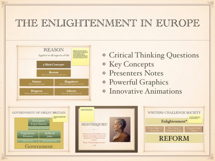 The Enlightenment In Europe PowerPoint and Keynote Presentations