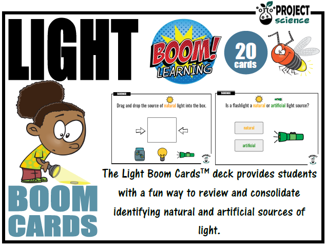 Light [Natural and Artificial] Boom Cards™ - Distance Learning