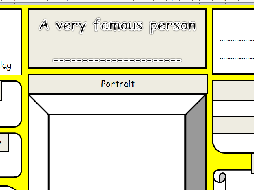 KS1 & 2 History/Geography /Science– 'Very famous person' blank template
