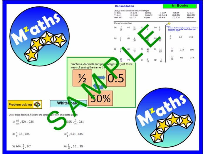 Converting Fractions/Decimal/Percentages/Ordering and Comparing/Revision (2 Lessons)
