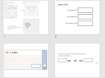 Y6 KS2 Maths revision Set 1