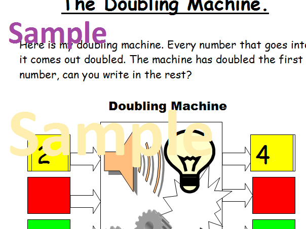 Printable worksheets for doubling and halving plus a game.