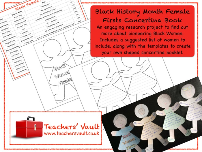 Black History Month Female Firsts Concertina Book
