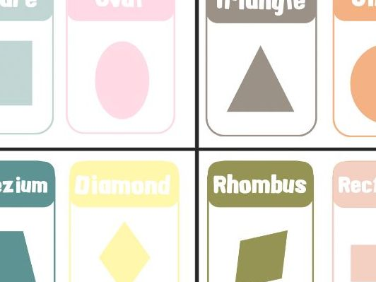 Shapes posters Muted Colours