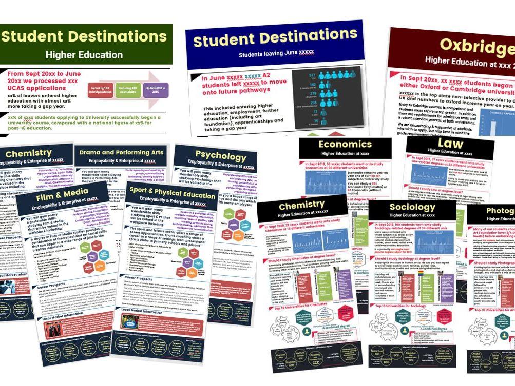 Careers HE University Destination Subject posters cross-college