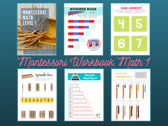 Montessori Math Workbook Level 1 for Ages 3-4
