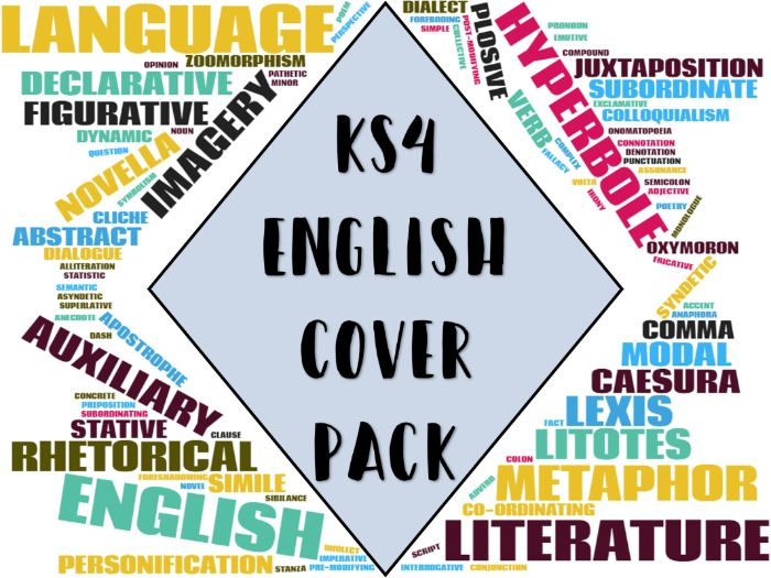 KS4 English Cover Pack