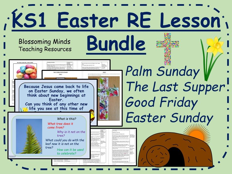 KS1 Easter RE 4 week unit (Holy Week)