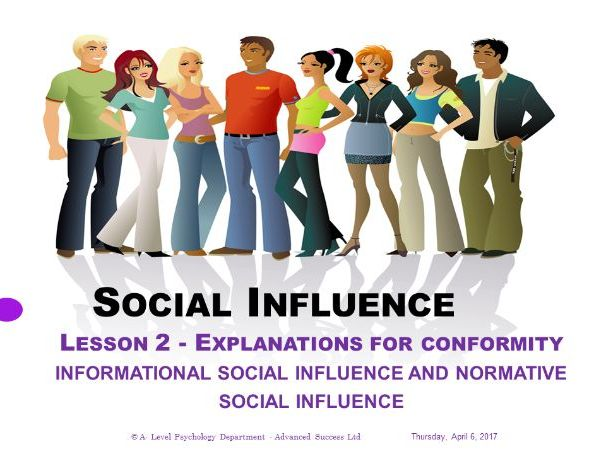 Powerpoint - Social Influence - Lesson 2 - Explanations for conformity