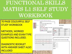 Functional Skills Maths L1 SELF STUDY AND TEST PREP WORKBOOK