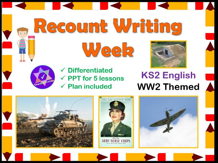 Recount Writing WW2 English Lessons