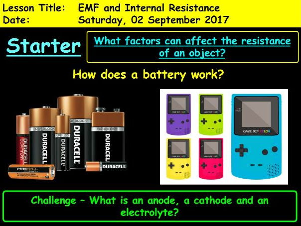 EMF and Internal Resistance