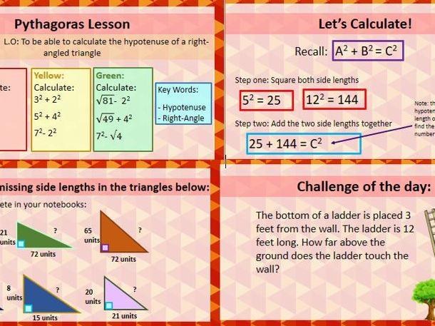 Pythagoras Lesson