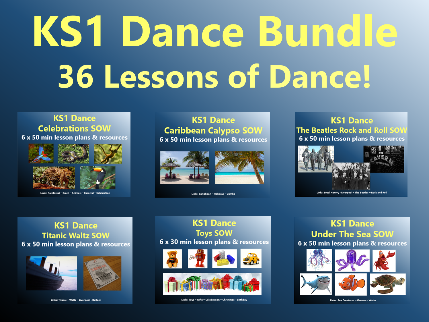 KS1 Dance Bundle - 36 Lessons of Dance!