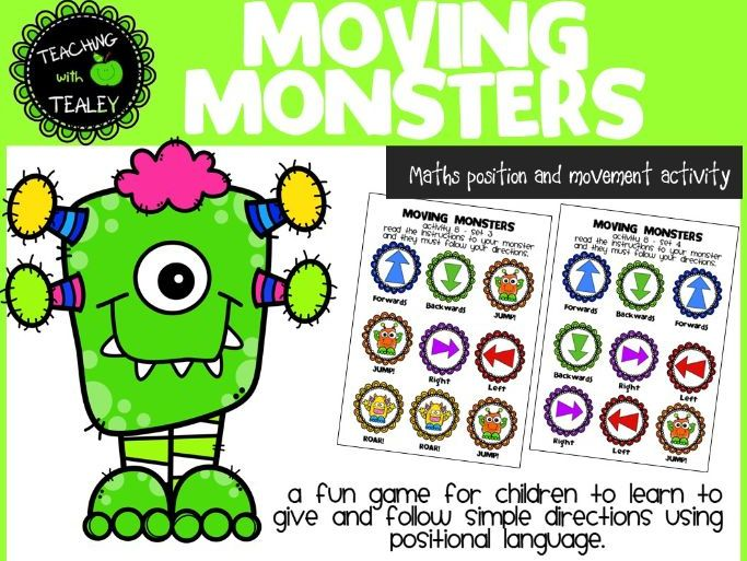 Maths Game for Early Learners Position and Movement