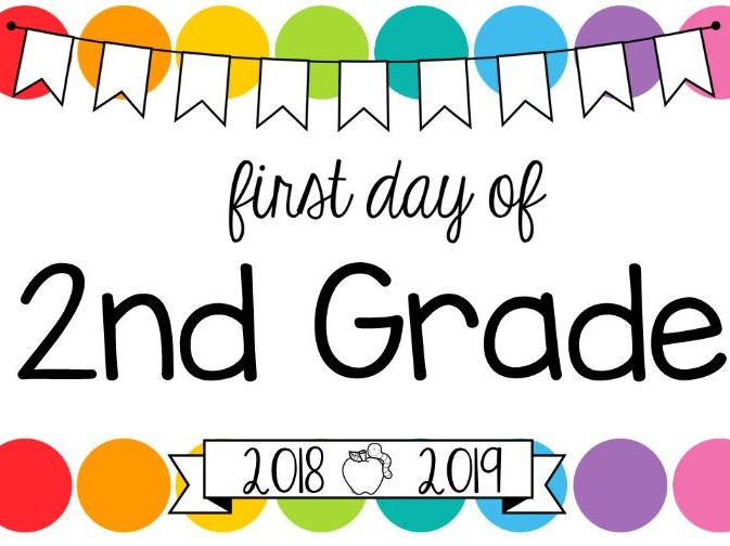 First Day of School Signs US Edition **Editable** (Rainbow Pop)
