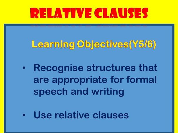 Complex Sentences with Relative Clauses (2) -who, whom , whose