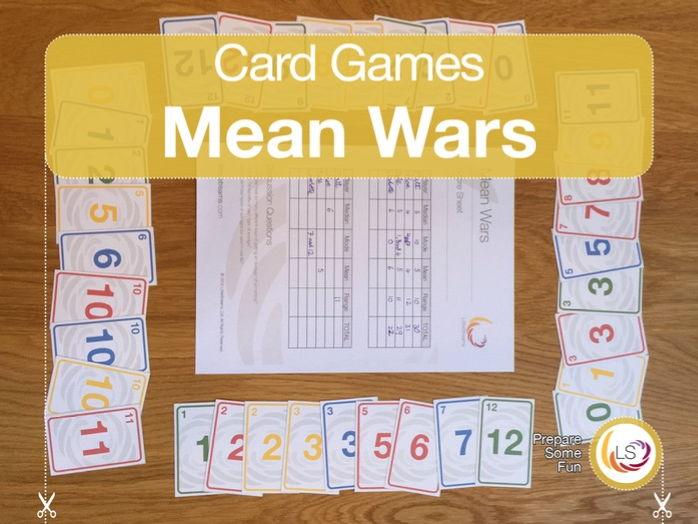 Averages | Card Game for learning Mean, Median, Mode & Range