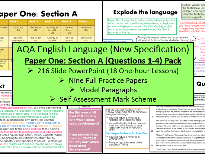GCSE English Language: Paper One - Section A (AQA, New Spec)