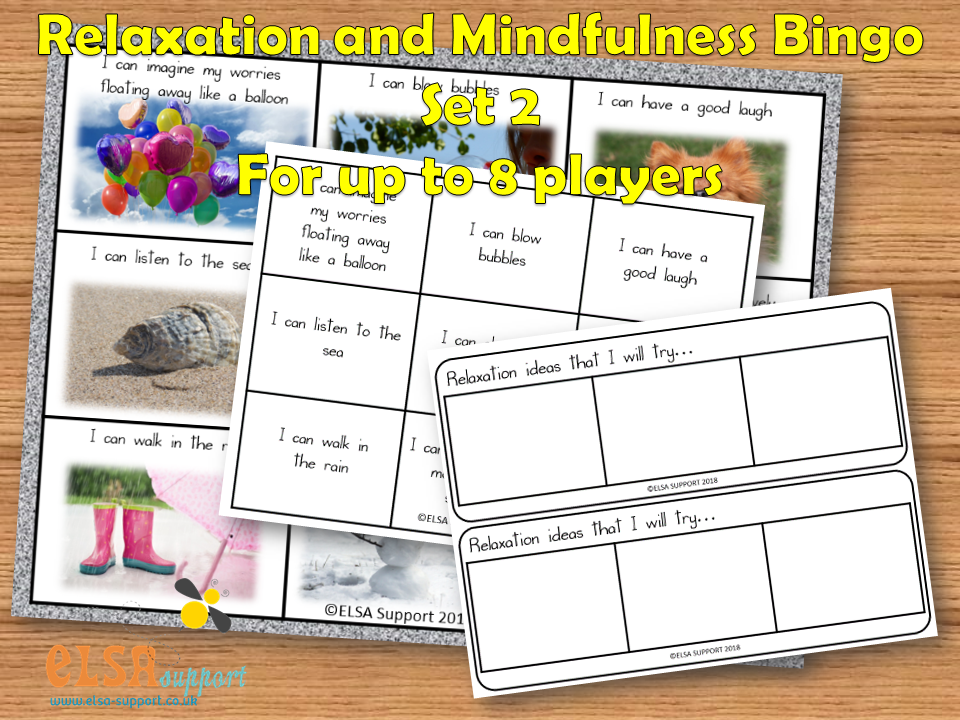 Mindfulness and Relaxation Bingo Set 2