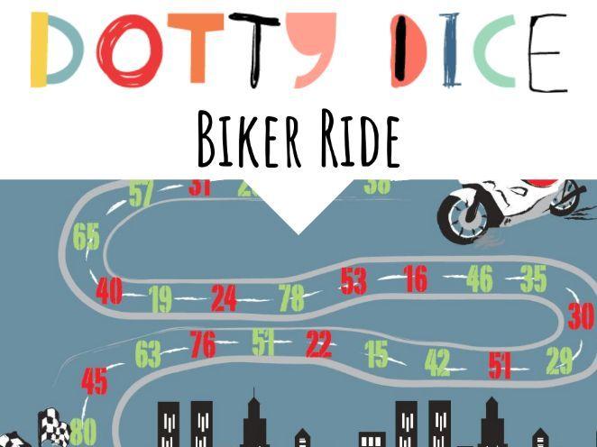 Numeracy Board Game - Biker Ride -Advanced Additive -