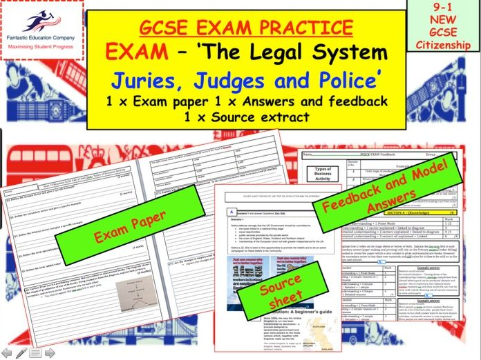 New 9-1 GCSE Citizenship Assessment - Juries, judges and police