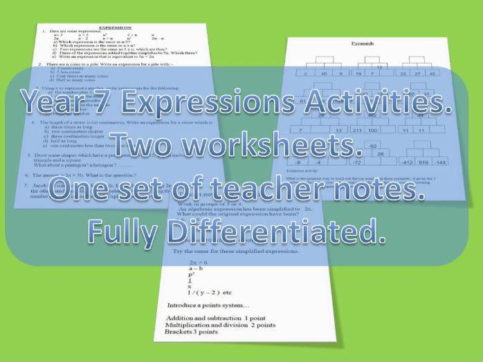 Year 7 Algebraic Expressions