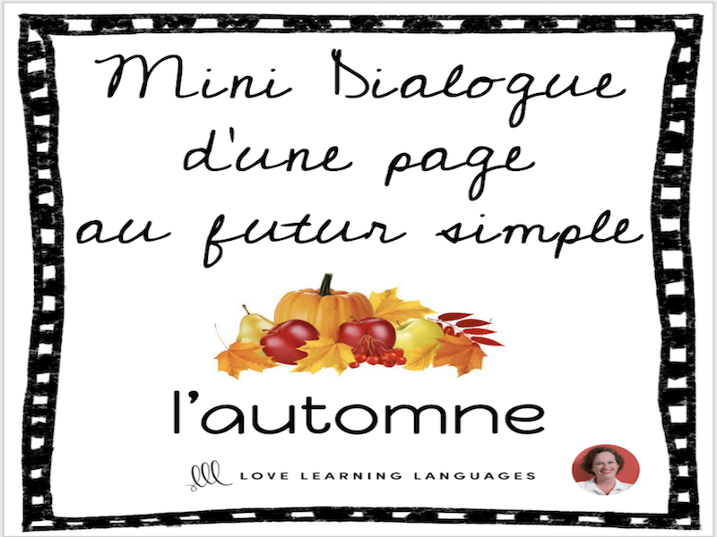 French skit about autumn - Mini-dialogue au futur simple - L'automne