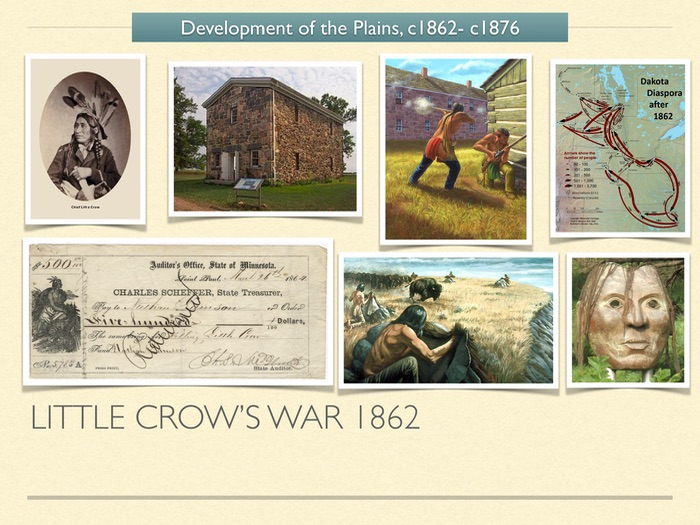 GCSE History American West 1800s. Little Crow's War 1862