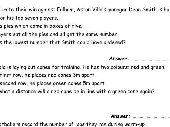 Premier League Football Number Knowledge