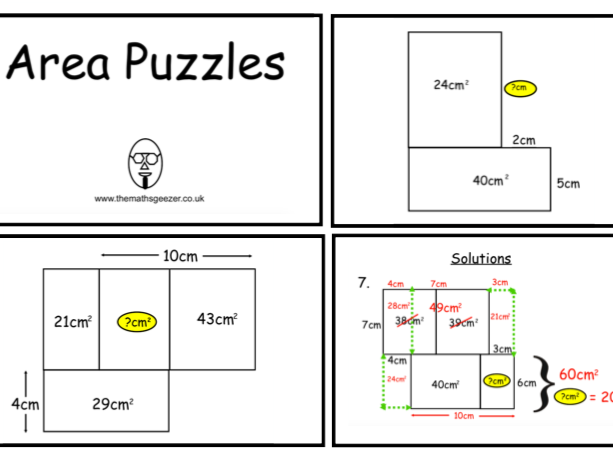 Area Puzzles Bundle (pdf)