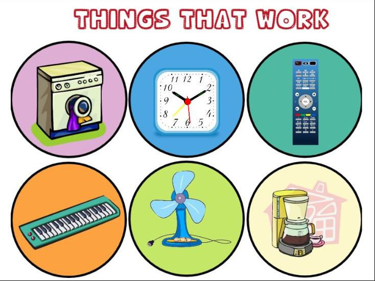 Things that Work Sorting Activity