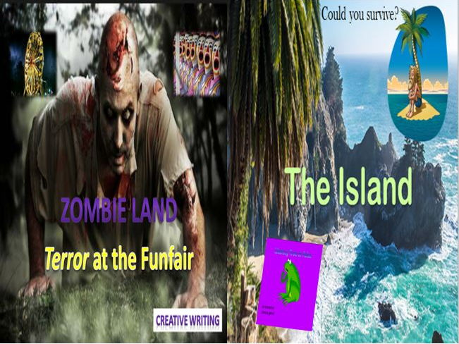 Zombie land Terror at the Funfair + The island and Literacy Game