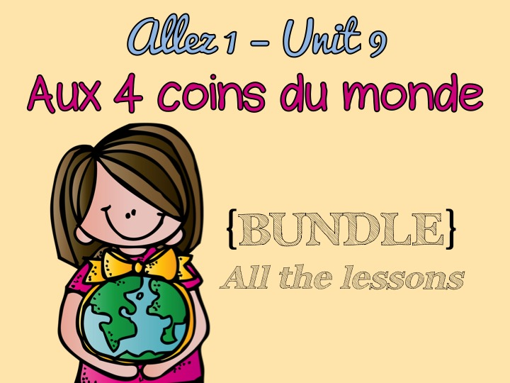 Allez 1 { BUNDLE } ALL the resources for Unit 9 - Three tenses - Volunteering - reflexive verbs - KS3 French