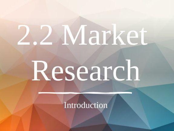 GCSE Business - Market Research