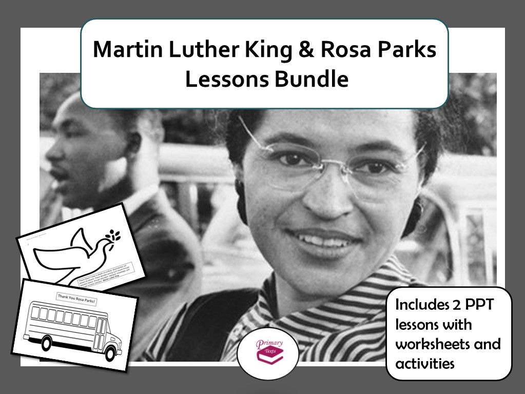 Martin Luther King and Rosa Parks PPT Lesson Bundle